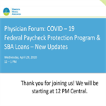 MMA COVID-19: Federal Paycheck Protection Program