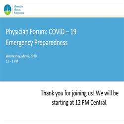MMA 2020 Physician Forum- COVID-19