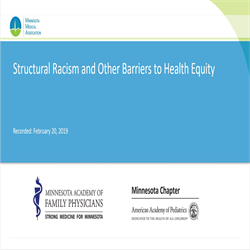 MMA Structural Racism and Other Barriers to Health Equity